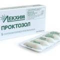 Проктозол - аналог Проктан
