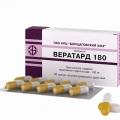 Вератард 180 - аналог Изоптин